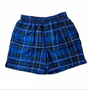 FADED GLORY Men's Plaid Polyester Shorts Size M